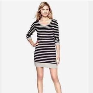 Gap striped wool sweater mini dress